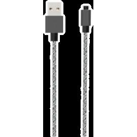 Bigben - Câble tissé Micro USB réversible noir de 2 mètres